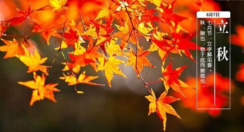 今日立秋,这些习俗和饮食你要知道